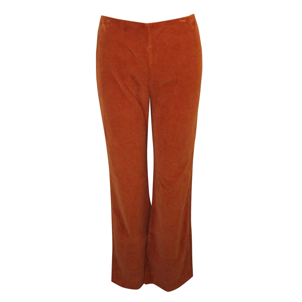 Three Dots Orange Straight Leg Corduroy Cropped Pant Size 4 Muse Boutique Outlet | Shop Designer Clearance Bottoms on Sale | Up to 90% Off Designer Fashion