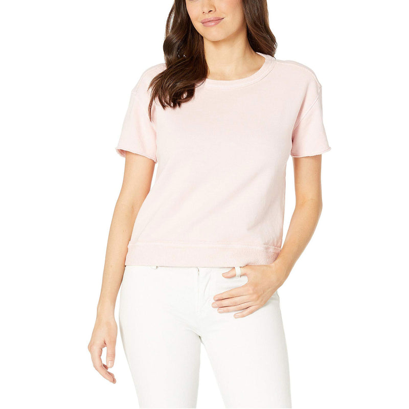 Three Dots 3 - End Fleece Top Extra Small Carnation Muse Boutique Outlet | Shop Designer Short Sleeve Tops on Sale | Up to 90% Off Designer Fashion