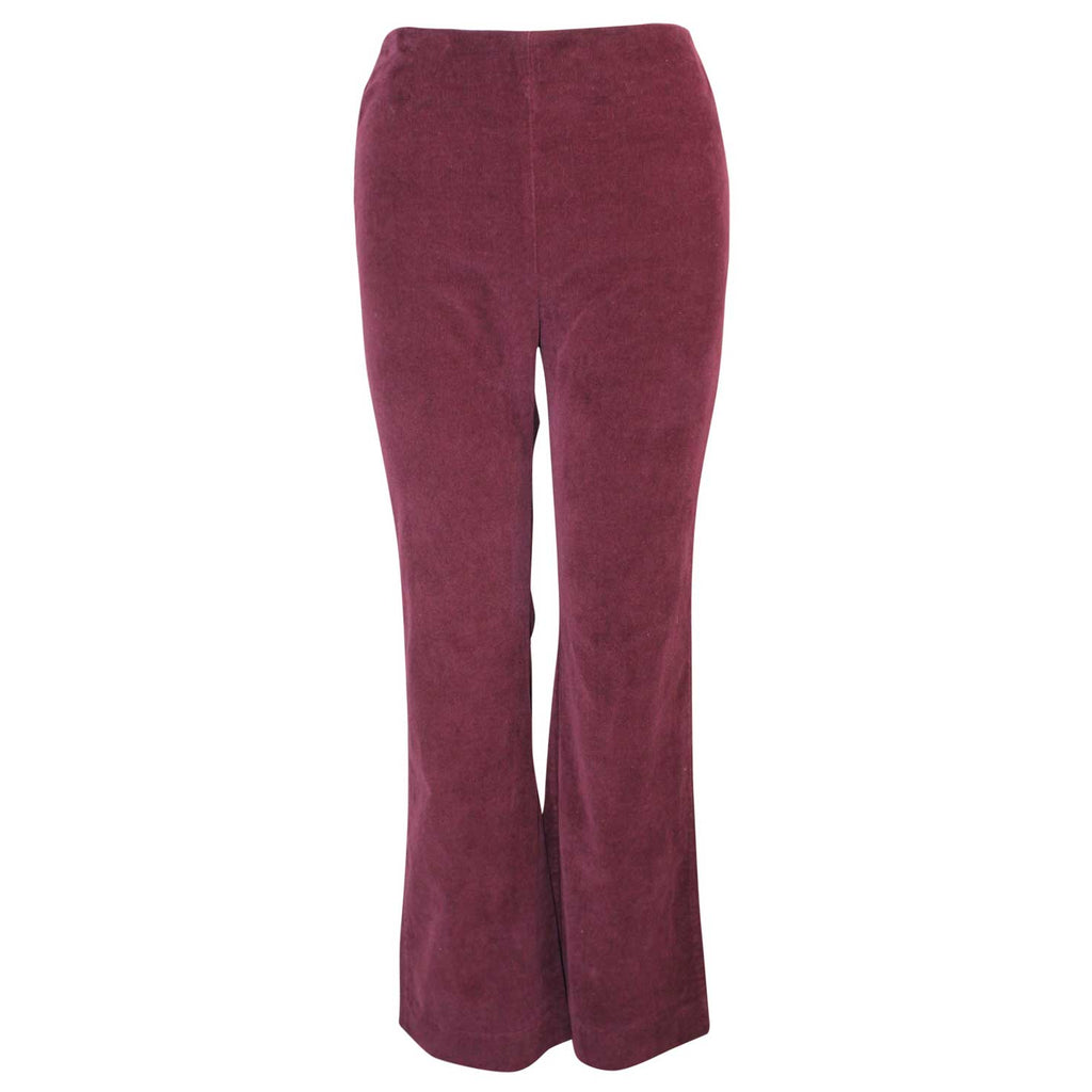 Three Dots Bordeaux Straight Leg Corduroy Cropped Pant Size 2 Muse Boutique Outlet | Shop Designer Pant on Sale | Up to 90% Off Designer Fashion