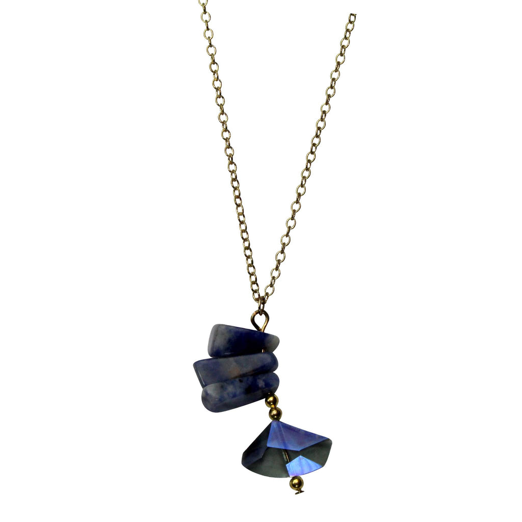 Private Label  Tiered Stone Necklace Size Blue Muse Boutique Outlet | Shop Designer Necklaces on Sale | Up to 90% Off Designer Fashion