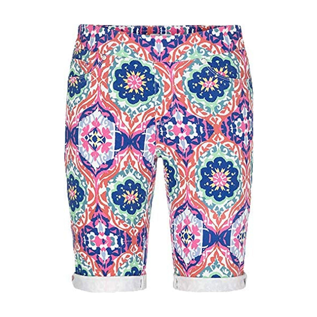 Tribal Deep Rose Pull On Printed Bermuda Short Size 12 Muse Boutique Outlet | Shop Designer Shorts on Sale | Up to 90% Off Designer Fashion