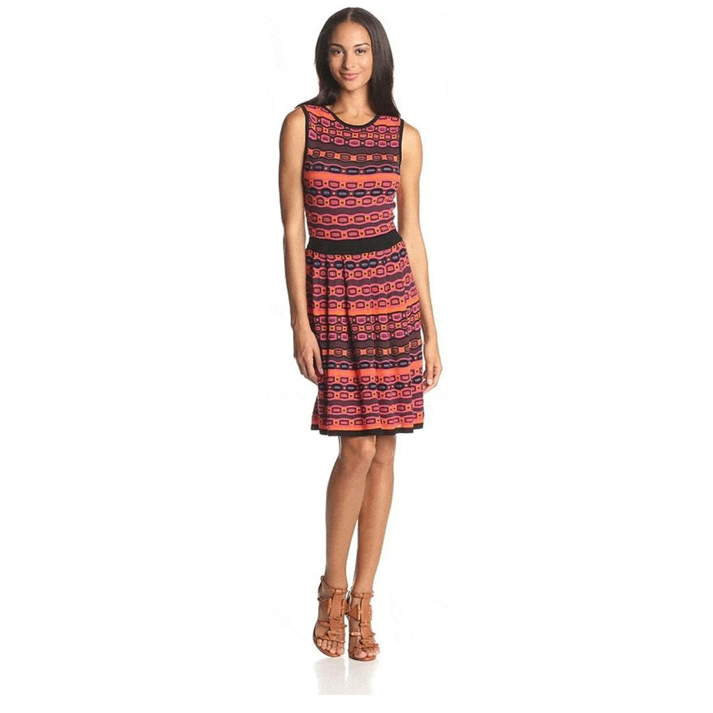 Mcginn Red Trinity Geo Knit Dress Size Small/Medium Muse Boutique Outlet | Shop Designer Clearance Dresses on Sale | Up to 90% Off Designer Fashion