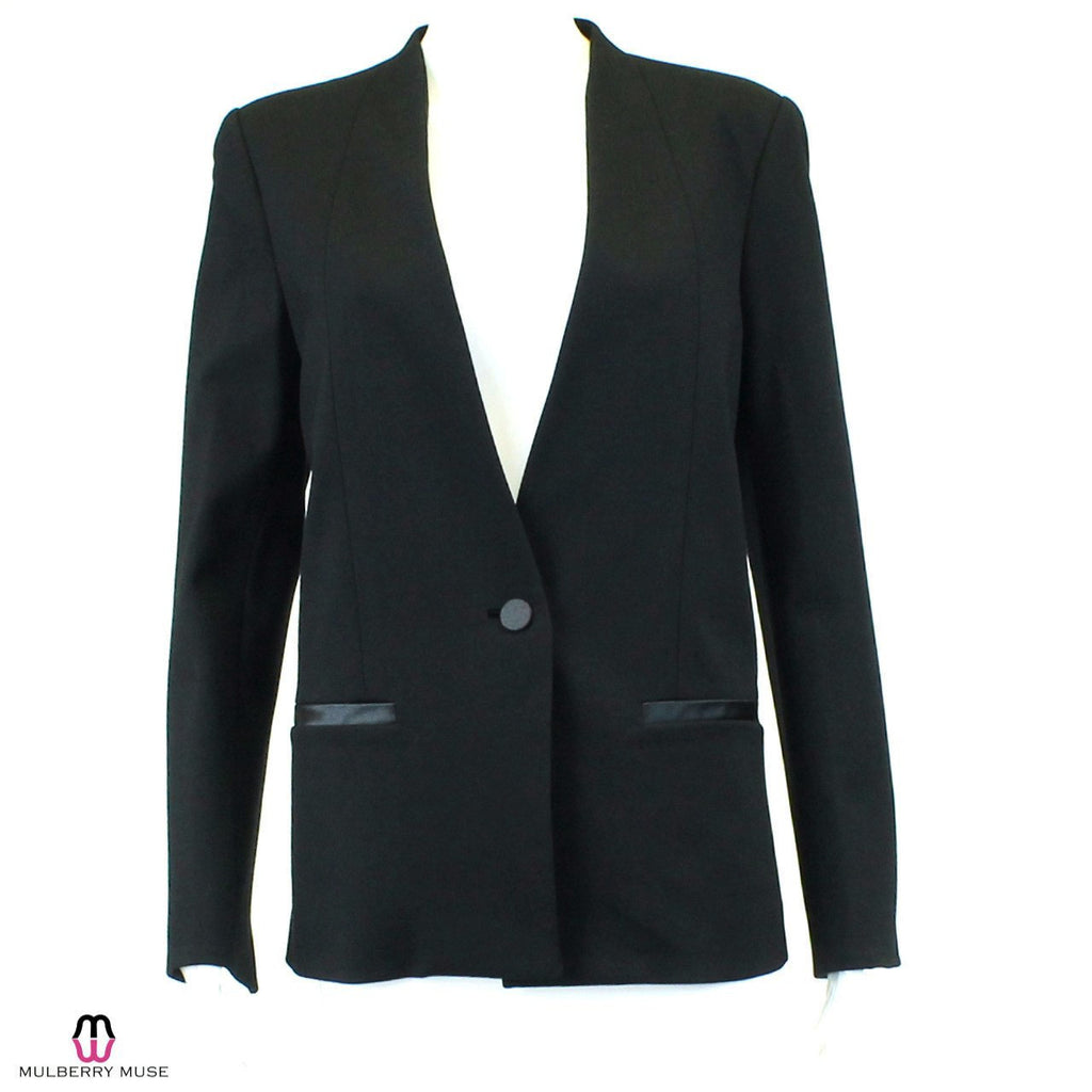 By Malene Birger Black Tuxedo Blazer Size 10 Muse Boutique Outlet | Shop Designer Clearance Outerwear on Sale | Up to 90% Off Designer Fashion