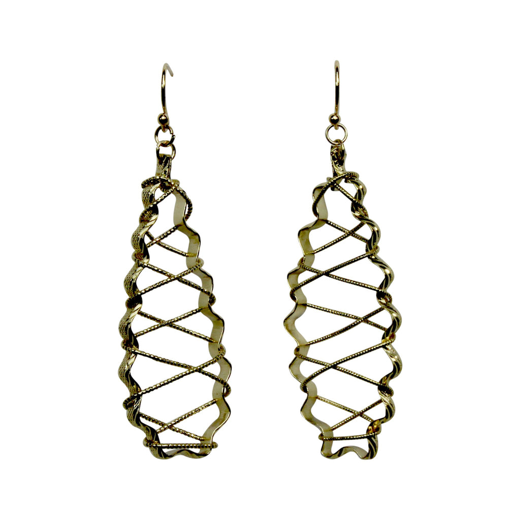 Private Label Gold Twisted Wire Earring Size OSFA Muse Boutique Outlet | Shop Designer Clearance Jewelry on Sale | Up to 90% Off Designer Fashion