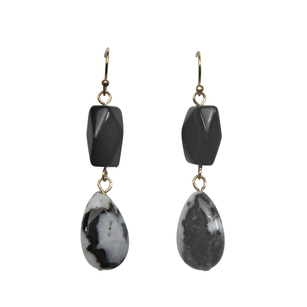 Private Label Black Two Tier Marble Earring Size OSFA Muse Boutique Outlet | Shop Designer Clearance Jewelry on Sale | Up to 90% Off Designer Fashion