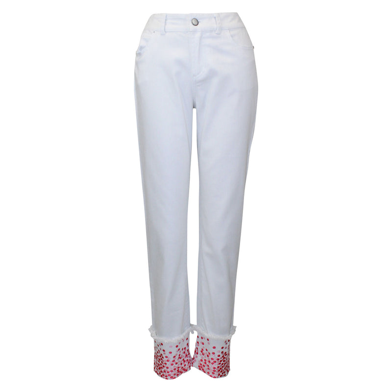 Tyler Boe White Dot Trim Pant Size 2 Muse Boutique Outlet | Shop Designer Denim Pants on Sale | Up to 90% Off Designer Fashion