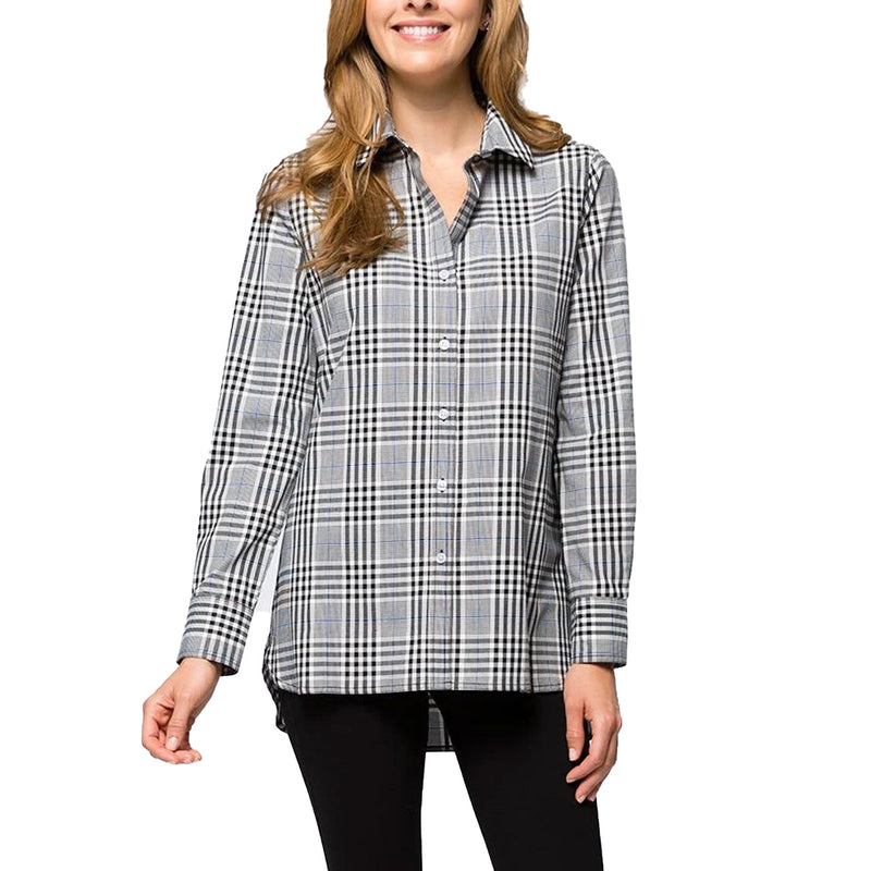 Tyler Boe Black Windsor Plaid Button Up Top Size Extra Large Muse Boutique Outlet | Shop Designer Long Sleeve Tops on Sale | Up to 90% Off Designer Fashion