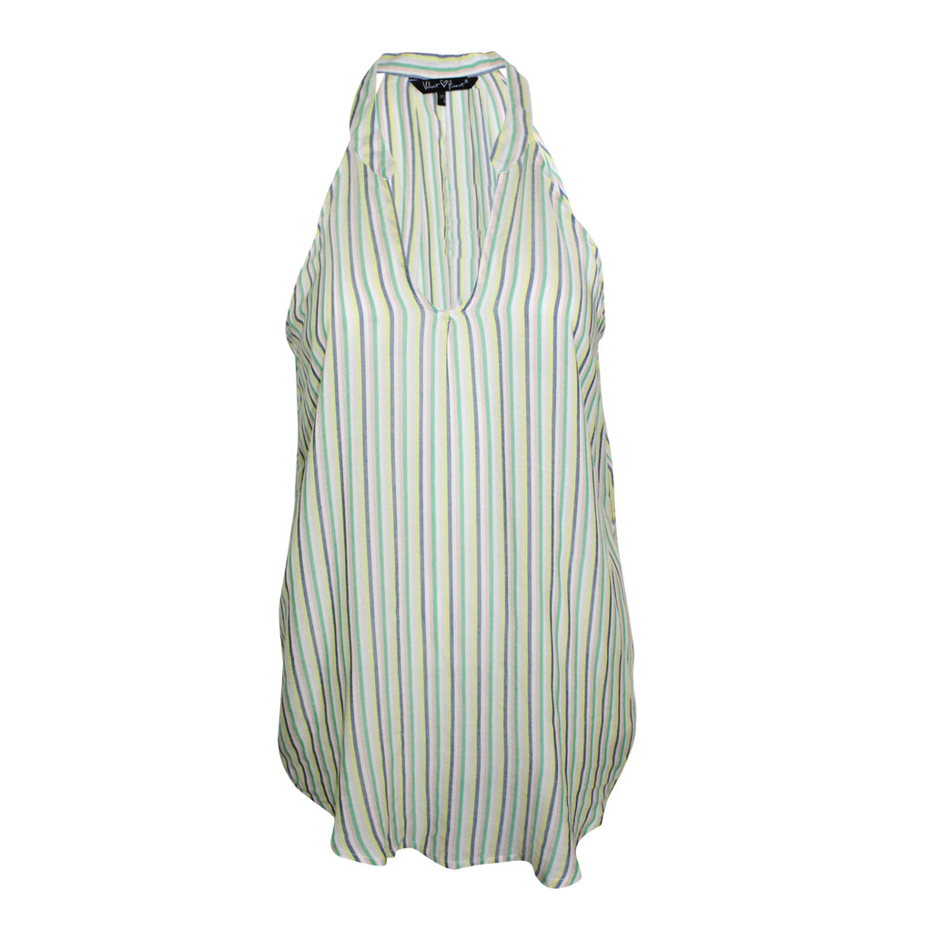 Velvet Heart Green Stripe Annisia Striped Sleeveless Tank Size Small Muse Boutique Outlet | Shop Designer Clearance Tops on Sale | Up to 90% Off Designer Fashion