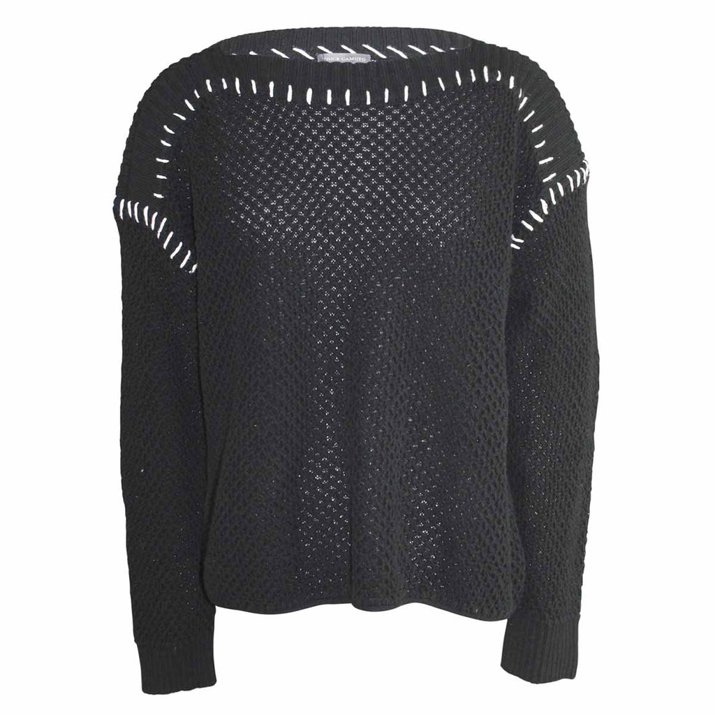 Vince Camuto Black Sunrise Bay Sweater Size Extra Small Muse Boutique Outlet | Shop Designer Sweaters on Sale | Up to 90% Off Designer Fashion