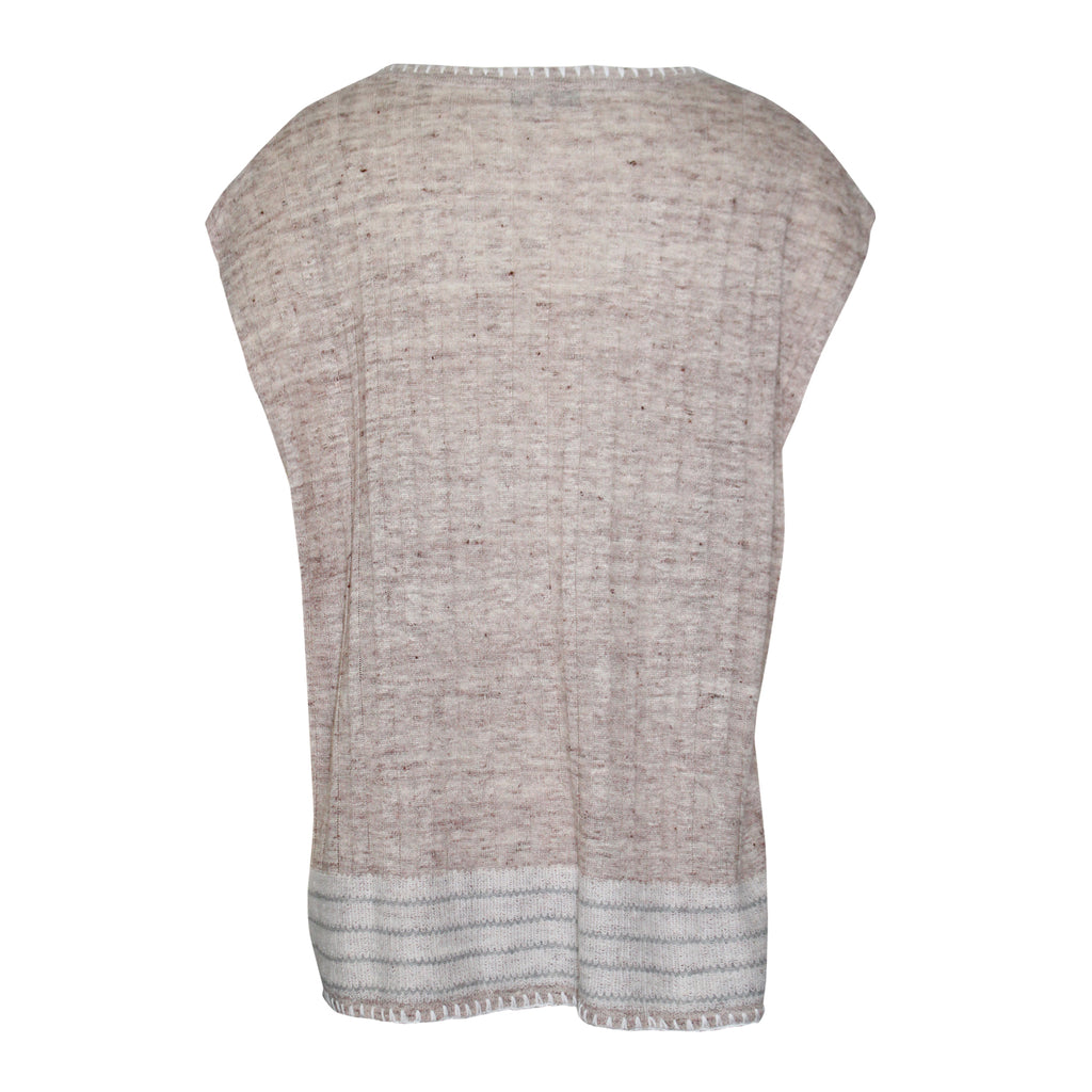 White + Warren  Blanket Stitch Knit Tank Size  Muse Boutique Outlet | Shop Designer Sleeveless Tops on Sale | Up to 90% Off Designer Fashion