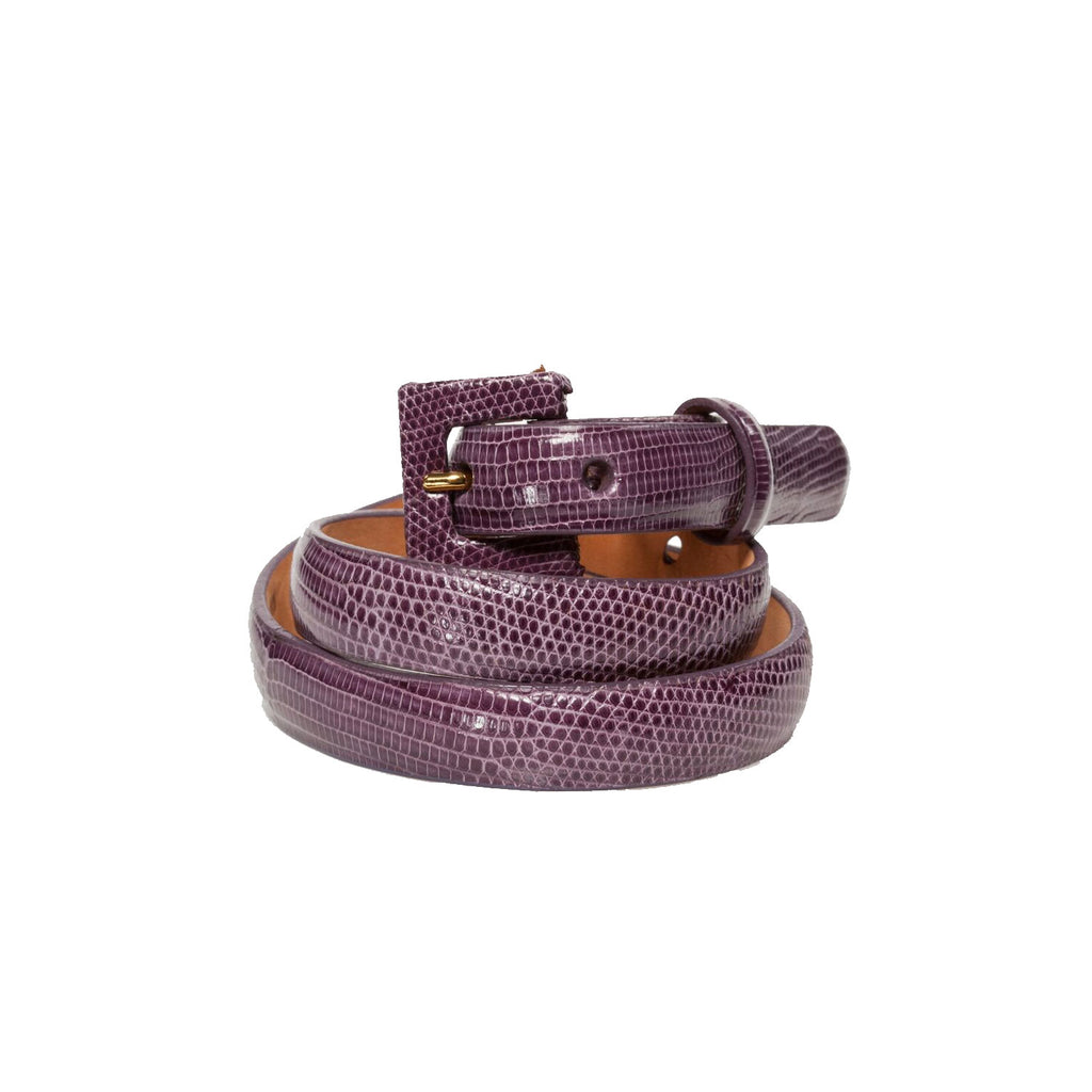 W Kleinberg Purple Lizard Belt Size Large Muse Boutique Outlet | Shop Designer Belts on Sale | Up to 90% Off Designer Fashion
