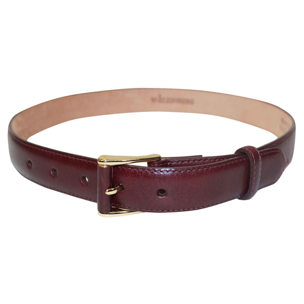 W Kleinberg Burgundy Monte Carlo Belt Size Extra small Muse Boutique Outlet | Shop Designer Belts on Sale | Up to 90% Off Designer Fashion