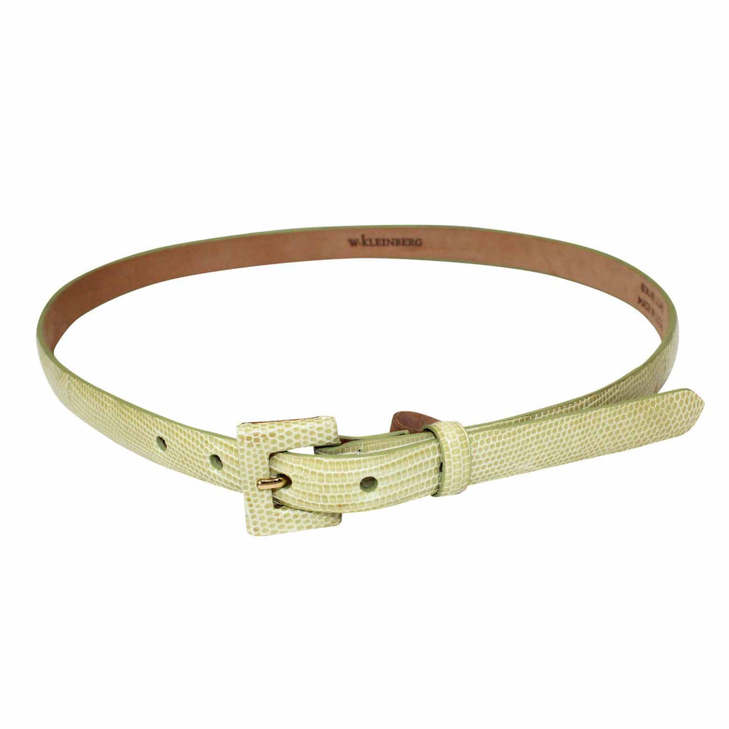 W Kleinberg Yellow Lizard Belt Size Medium Muse Boutique Outlet | Shop Designer Belts on Sale | Up to 90% Off Designer Fashion