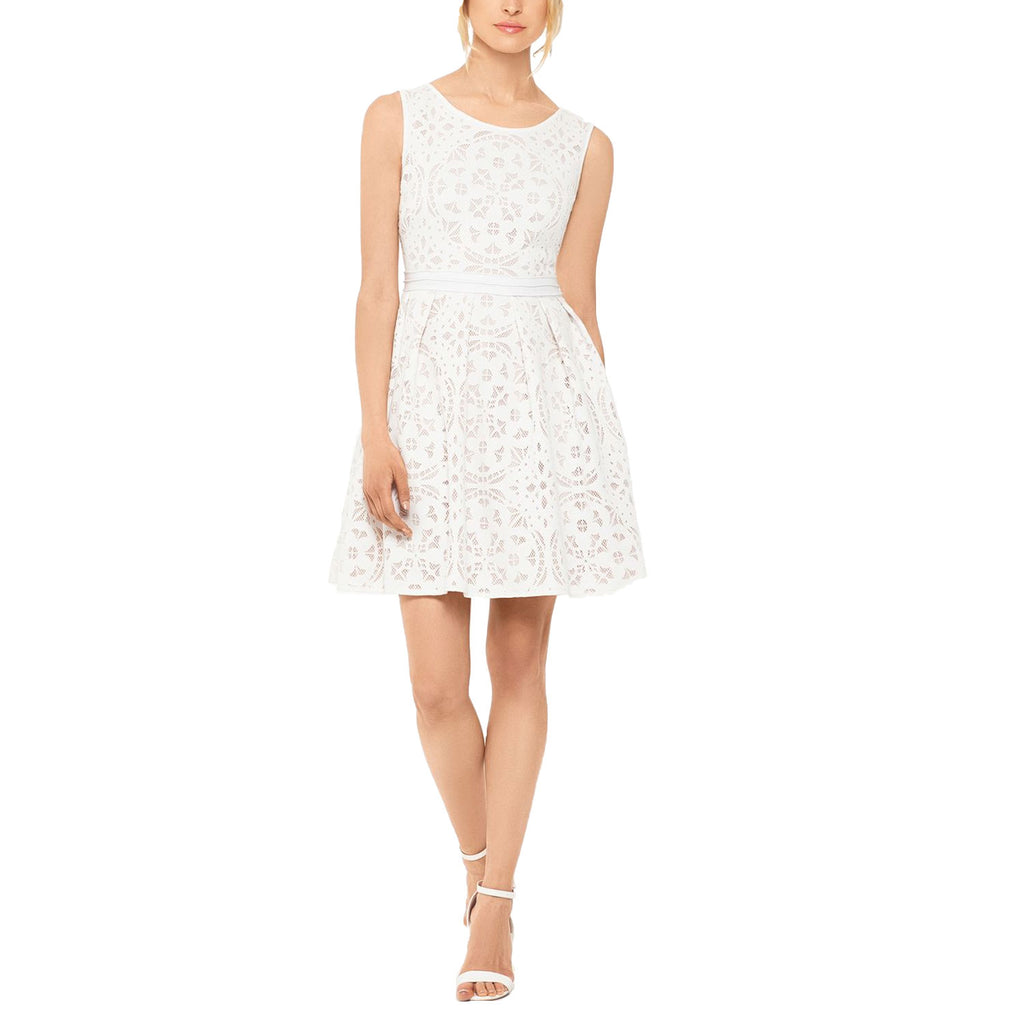 Xscape White Laser Cut Lace Fit & Flare Dress Size 10 Muse Boutique Outlet | Shop Designer Dresses on Sale | Up to 90% Off Designer Fashion