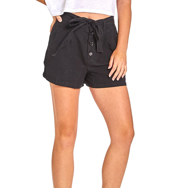 YFB Black Ulla Belted Tencel Shorts Size Small Muse Boutique Outlet | Shop Designer Shorts on Sale | Up to 90% Off Designer Fashion