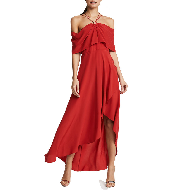 Yigal Azrouel Hibiscus Cold Shoulder Dress Size 4 Muse Boutique Outlet | Shop Designer Evening/Cocktail on Sale | Up to 90% Off Designer Fashion