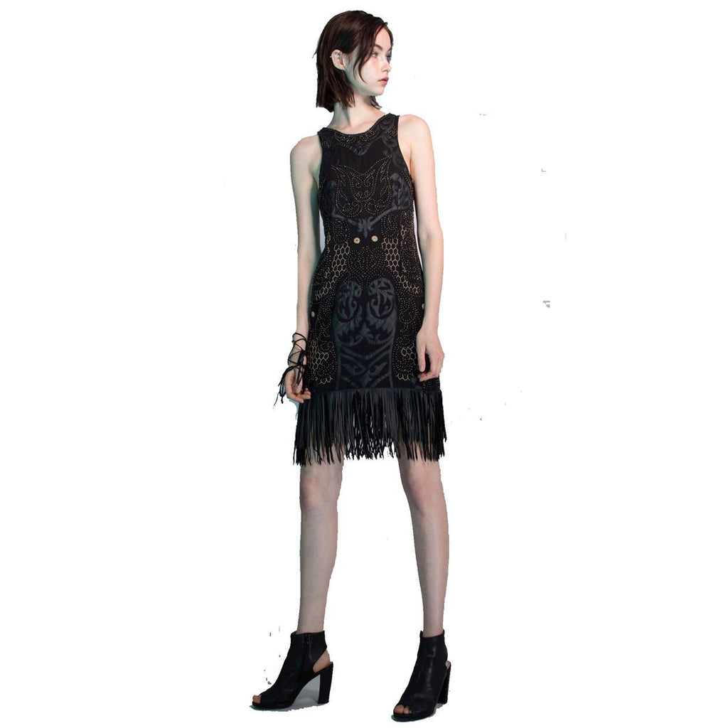 Yoana Baraschi Black Nirvara Beaded Fringe Dress Size 0 Muse Boutique Outlet | Shop Designer Clearance Dresses on Sale | Up to 90% Off Designer Fashion