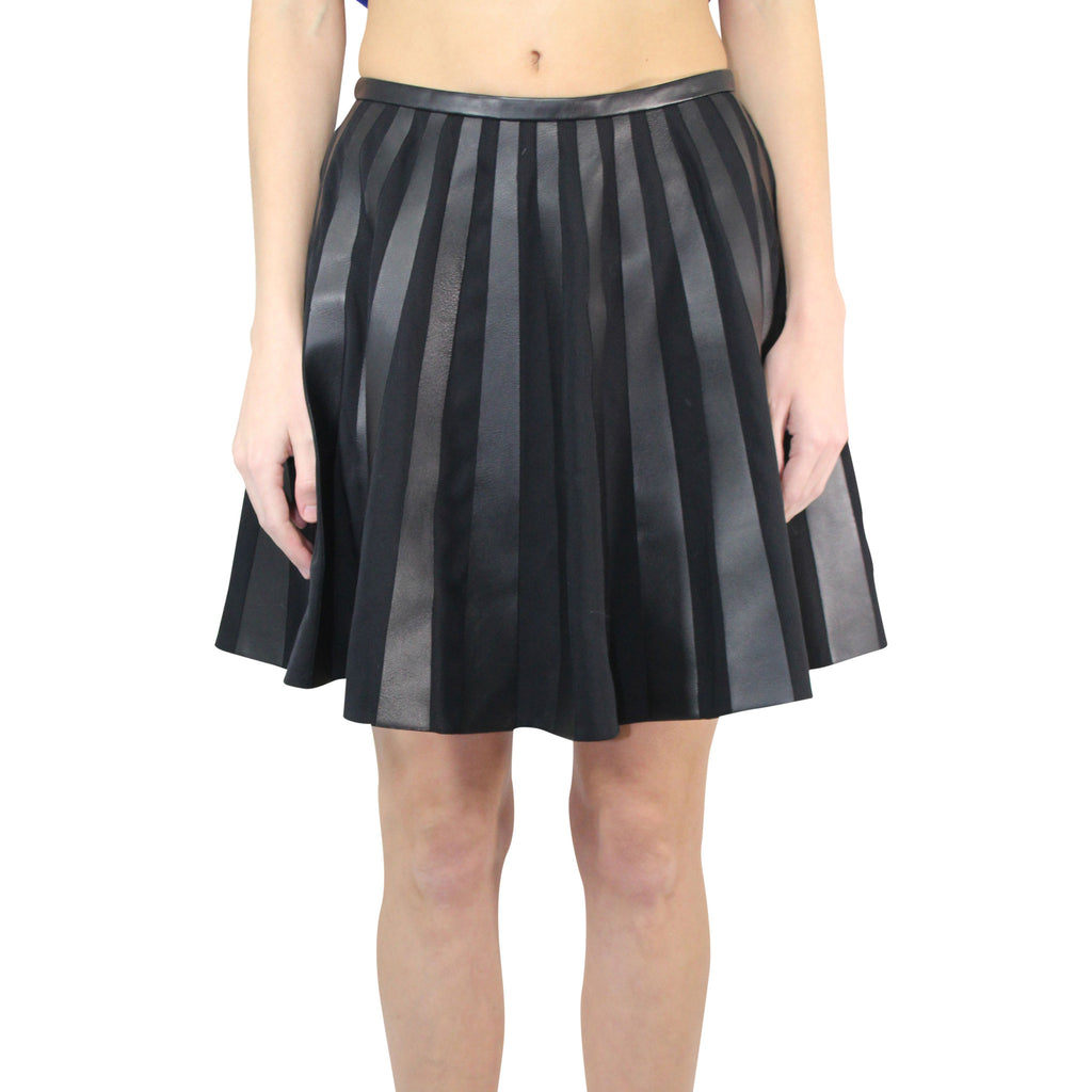 Yves Salomon Black Leather A-line Skirt Size 36 Muse Boutique Outlet | Shop Designer Clearance Skirts on Sale | Up to 90% Off Designer Fashion