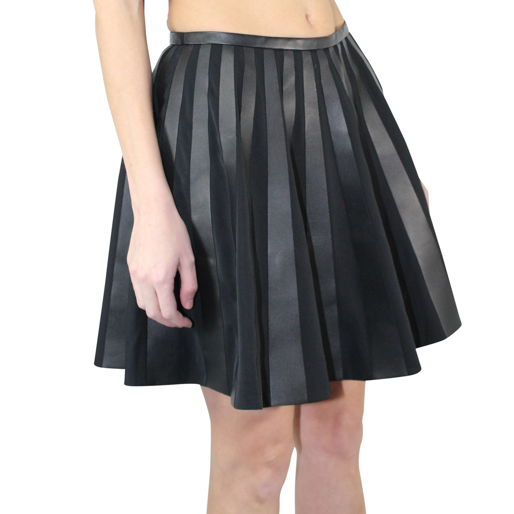 Yves Salomon  Leather A-line Skirt Size  Muse Boutique Outlet | Shop Designer Clearance Skirts on Sale | Up to 90% Off Designer Fashion