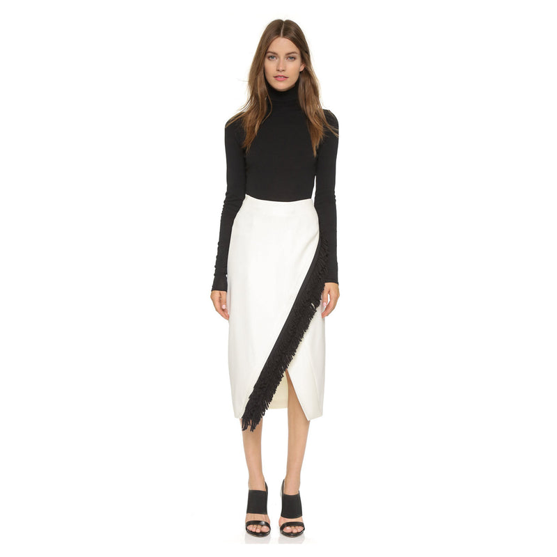Zero + Maria Cornejo Off White Fringe Mylla Skirt Size 6 Muse Boutique Outlet | Shop Designer Clearance Skirts on Sale | Up to 90% Off Designer Fashion