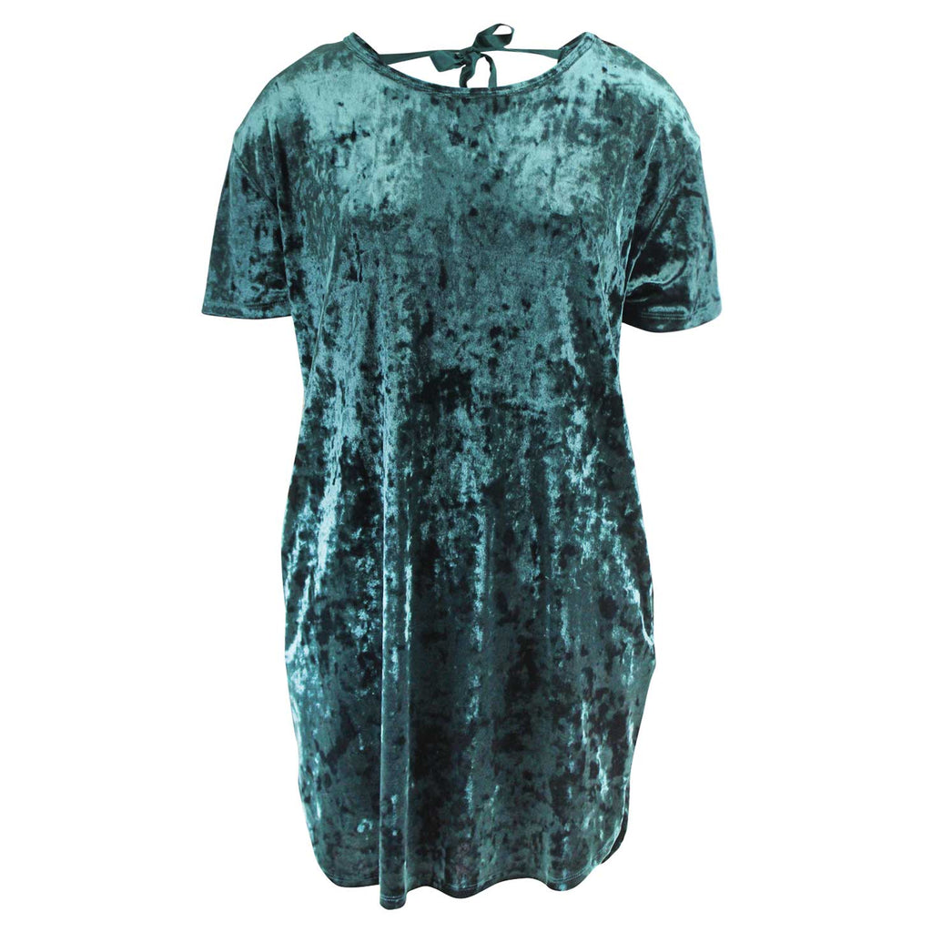 Z Supply Teal The Crushed Velour Tie Back Dress Size Small Muse Boutique Outlet | Shop Designer Clearance Dresses on Sale | Up to 90% Off Designer Fashion