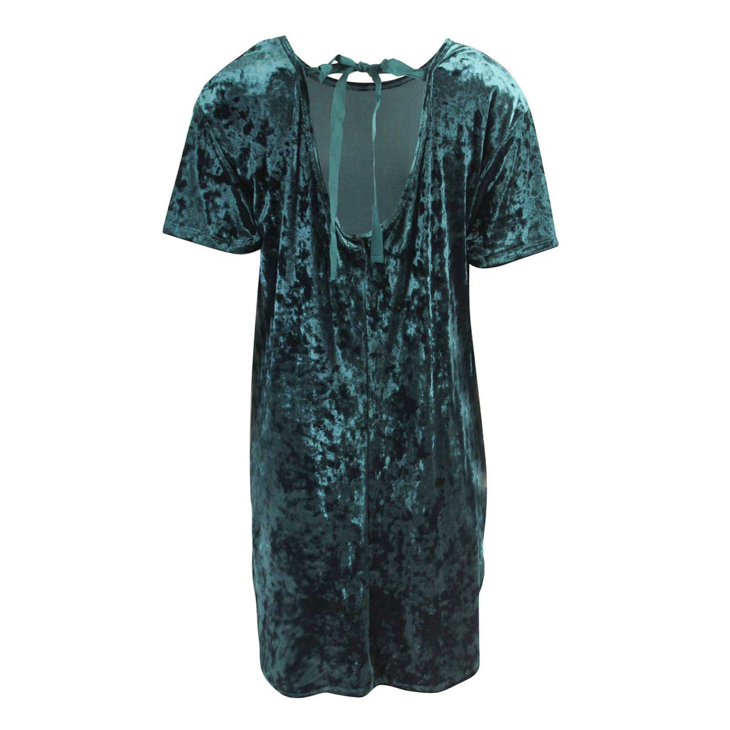 Z Supply  The Crushed Velour Tie Back Dress Size  Muse Boutique Outlet | Shop Designer Clearance Dresses on Sale | Up to 90% Off Designer Fashion