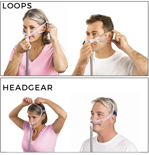 Headgear And Bella Loops For Swift Fx Nasal Pillow Mask