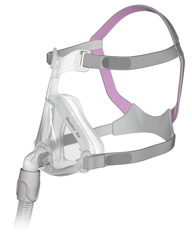 New Resmed Quattro Air for her (Pink Headgear)