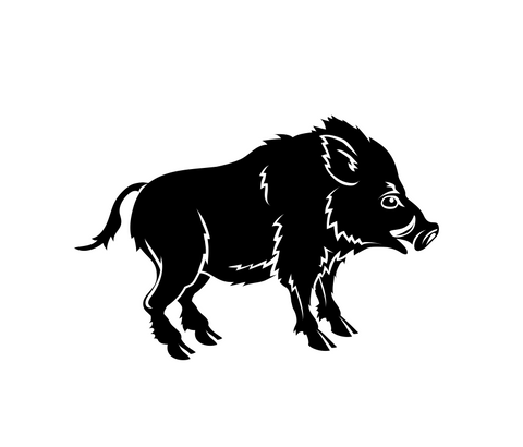 Boar Diecut Sticker