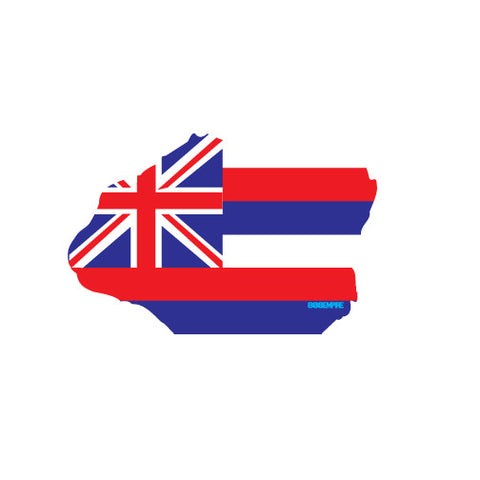 Kauai Hawaii Flag Sticker