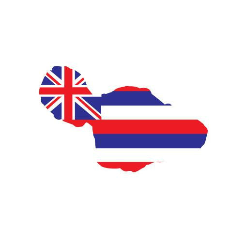 "Flag Maui 4"" Diecut Sticker"