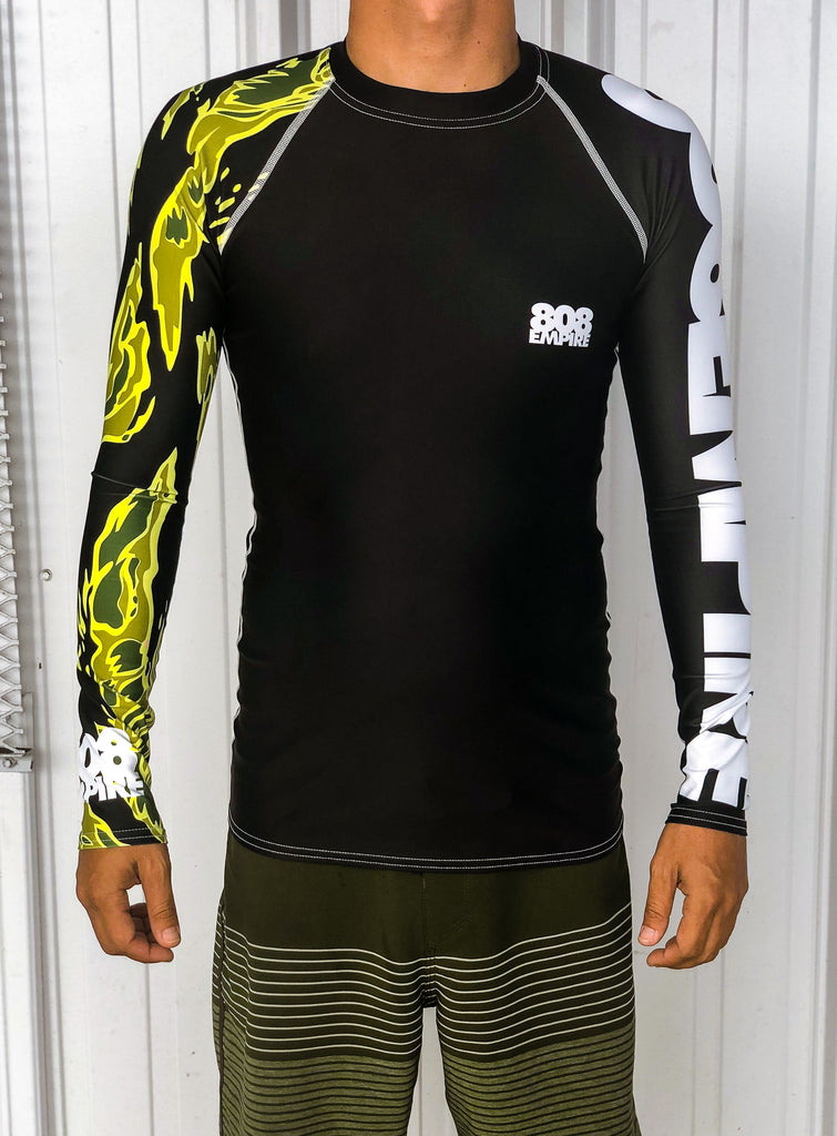 """Tiger"" Long Sleeve Rashgaurd - 808 Empire"