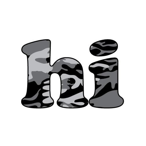 Hi Camo Sticker (Click For More Colors)
