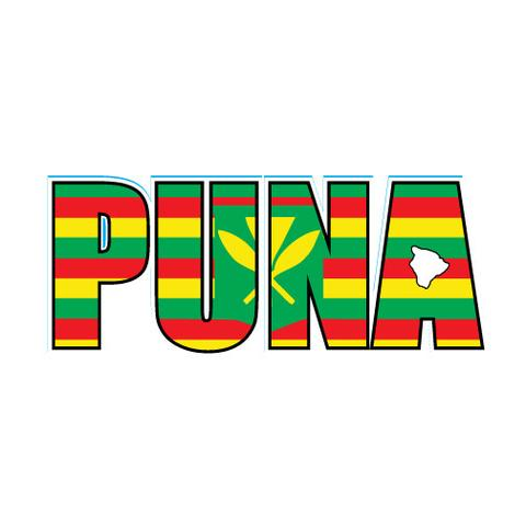 "Puna Impact 5"" Sticker (click for colors)"