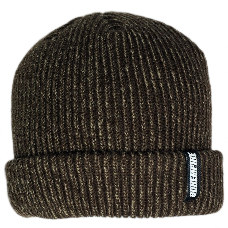"""Seeds"" Brown Dock Beanie By 808 Empire  8/9"