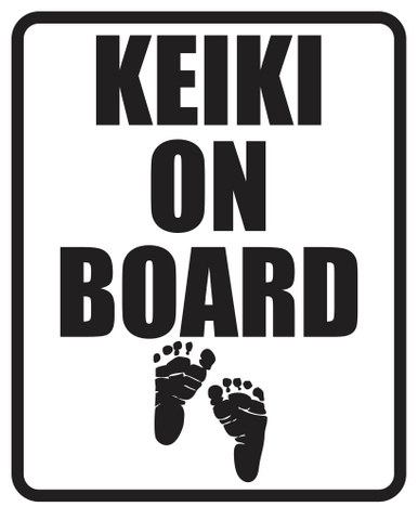 Keiki On Board Diecut Sticker