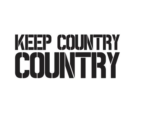 """Keep Country Country"" Stencil Diecut"