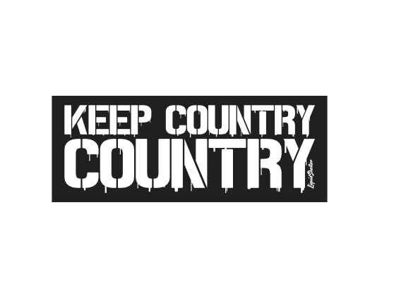 """Keep Country Country"" Drip Sticker"