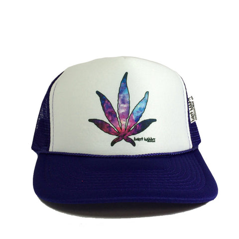Cosmic Purps Leaf Trucker By DRI