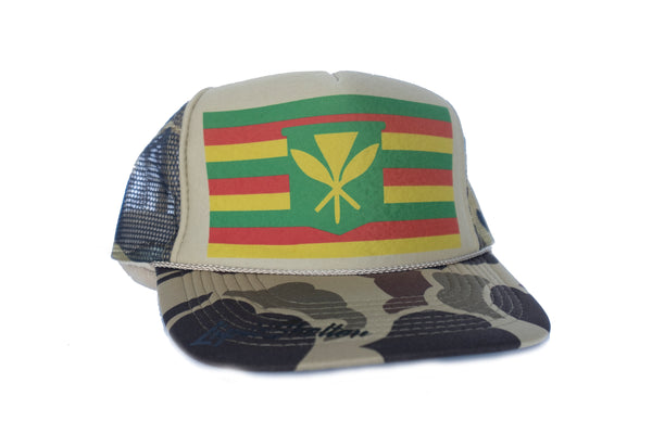 Maoli Flag Trucker By Liquid Shelter