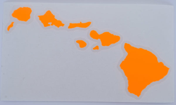 "Hawaiian Island Chain 8"" Diecut Sticker"