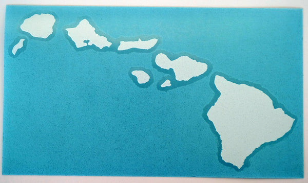 "Hawaiian Island Chain 10"" Diecut Sticker"