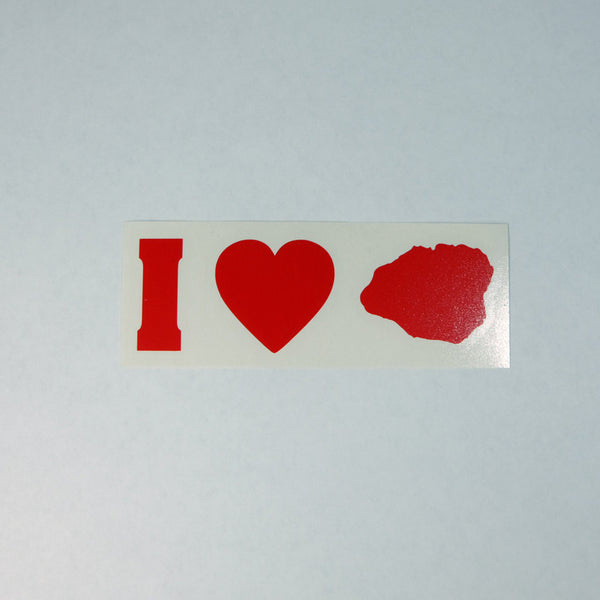 I Love Kauai Impact Diecut Sticker