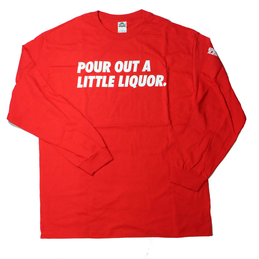 """A Little Liqour"" Red Long Sleeve by 808 Empire"
