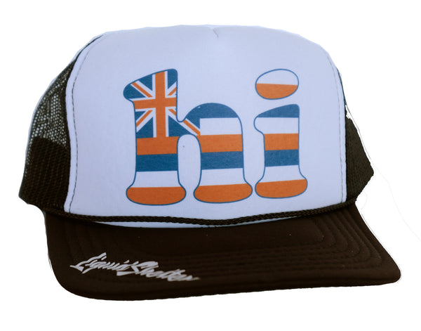 hi Hawaii Flag Trucker