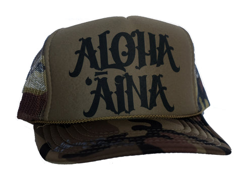Aloha Aina Trucker Hat By Liquid Shelter