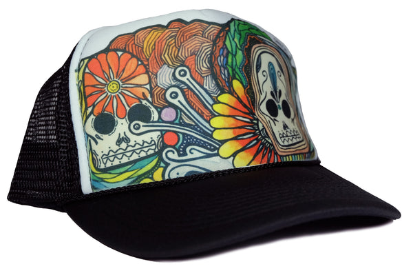 """Every Day Can Be The Day of The Dead"" Trucker By NECK10"