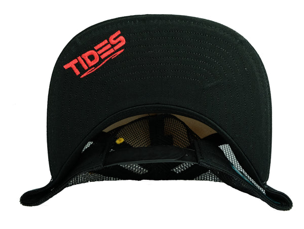 """Makau"" Gold/Black Trucker By Tides Hawaii"