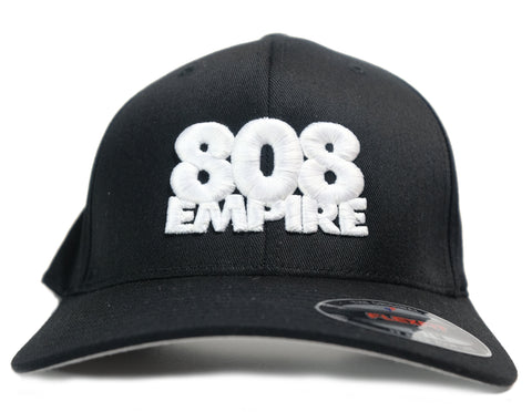 """Athletics"" Flexfit Hat by 808 Empire (Black/White) 10-30-19"