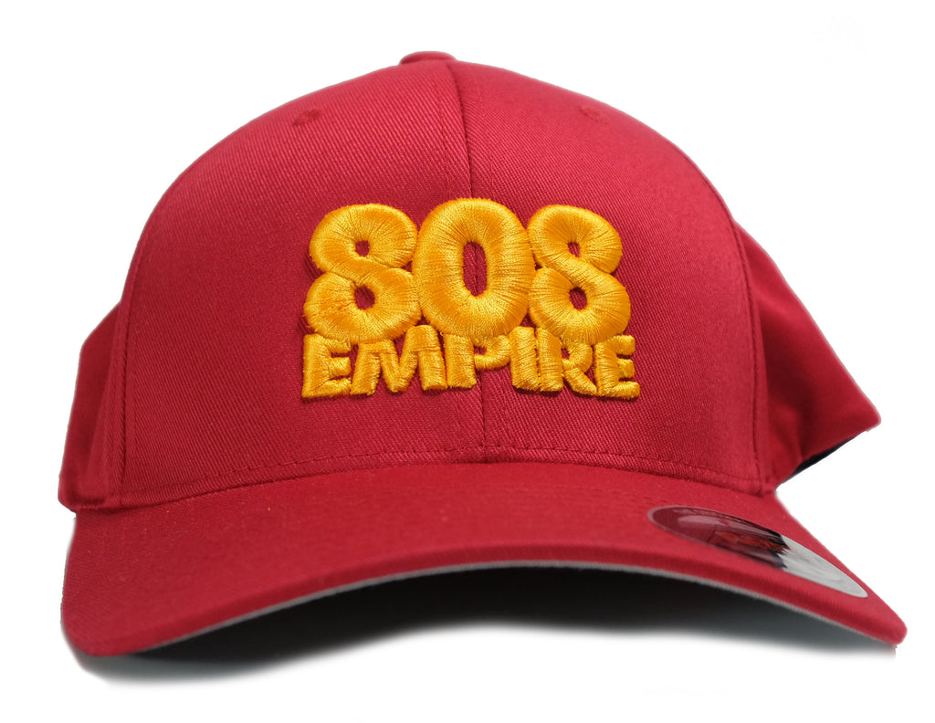 """Athletics"" Flexfit Hat by 808 Empire (Red/Yellow) 10-30-19"